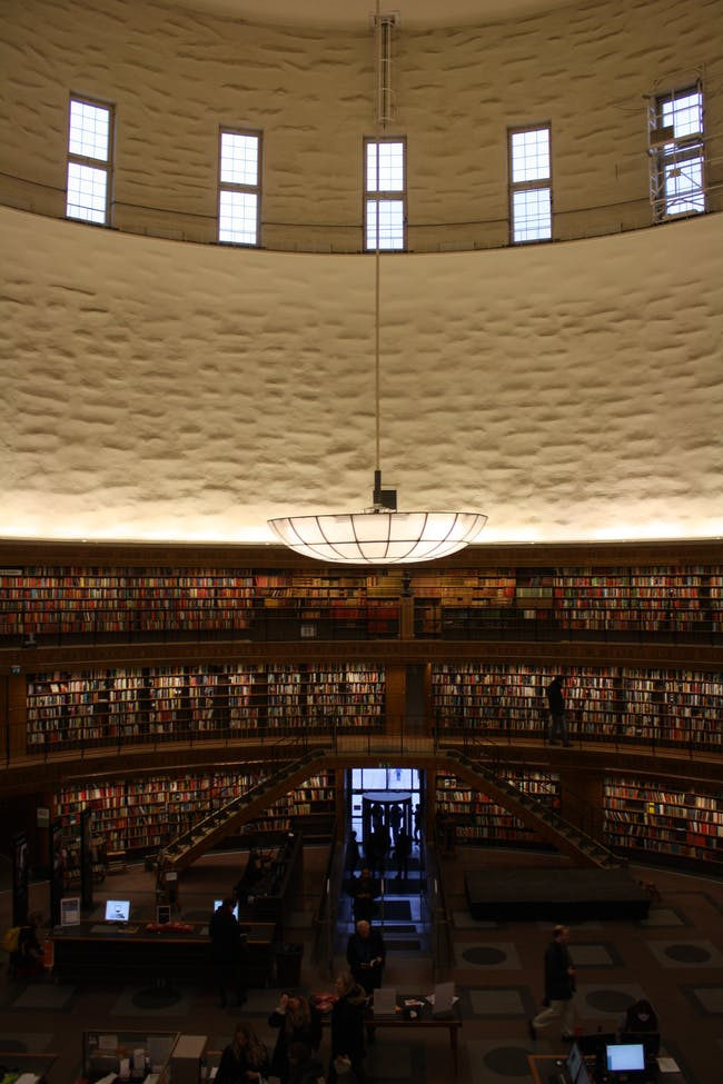 Interior shot, 1928 Stockholm Public Library