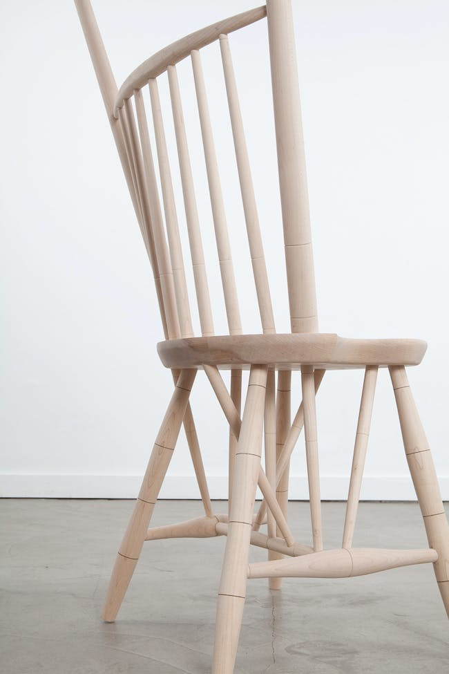 Norman Kelley (Thomas Kelley & Carrie Norman), 'Rod-Back Side Chair,' 2014. Maple. 33 1/2 x 20 x 20 inches. Courtesy of Volume Gallery, Chicago