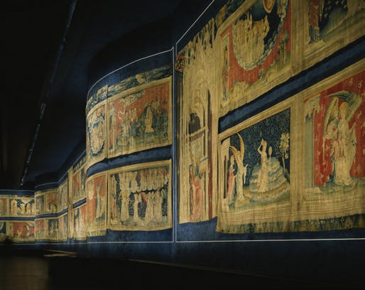The Apocalypse Tapestry at the Chateau d'Angers. Image credit: Angers Loire Tourisme, courtesy of Steven Holl Architects.