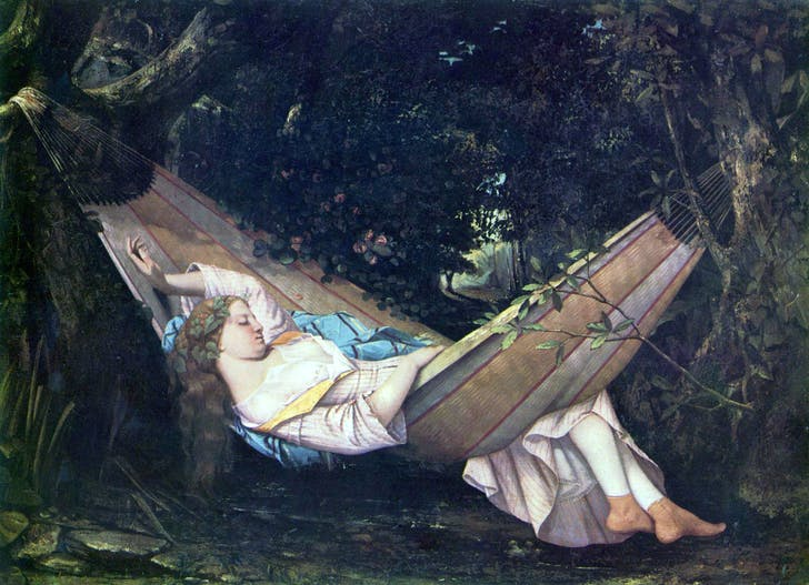 Gustave Courbet's 'The Dream' (1844)... of no more CE. Image via Wikipedia.org.