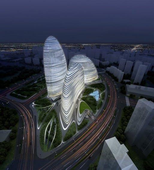 Wangjing SOHO in Beijing courtesy of Zaha Hadid Architects