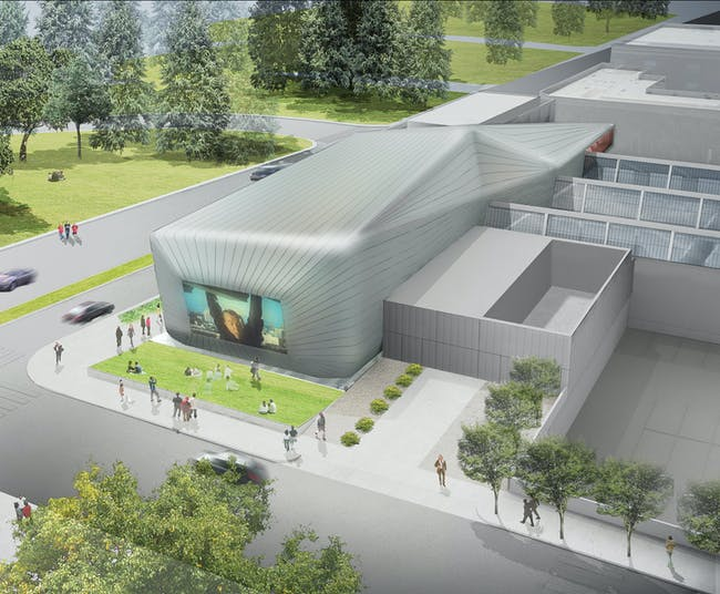 Rendering of the new UC Berkeley Art Museum and Pacific Film Archive (BAM/PFA), designed by Diller Scofidio + Renfro. View of the Film Library and Study Center. Courtesy of the Regents of University of California.