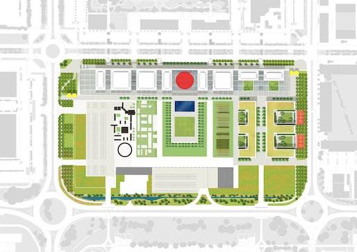 Masterplan. Image © Hopkins Architects.