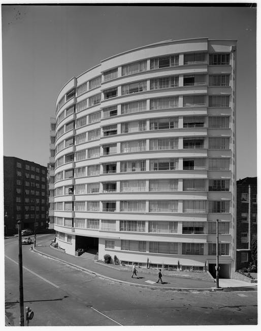 17 Wylde Street by Aaron M Bolot (NSW). Photo credit: Apartments, Wylde St, Potts Point, ca. 1953. Photo: Max Dupain. Image: State Library of New South Wales (PXD 1013).