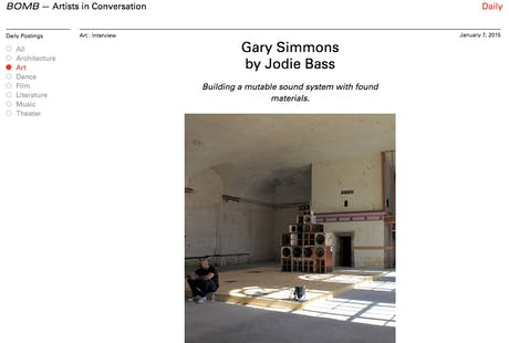 Architecture and Art - installation and application in Gary Simmons work