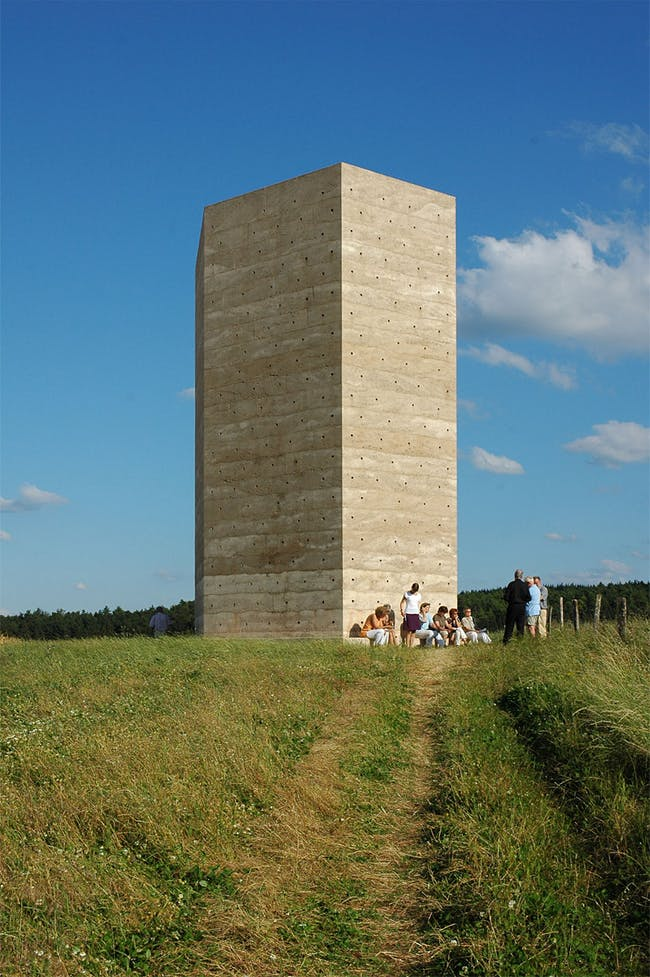 Bruder Klaus Kapelle, Wachendorf, Germany by Peter Zumthor (Photographer: Thomas von Arx)