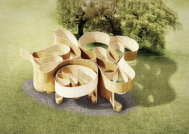 A rendering of Barkow Leibinger's Summer Pavilion. Via Serpentine Galleries.