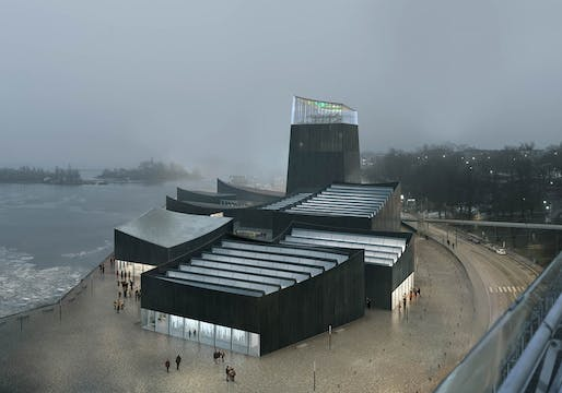 "The winning proposal for the <a href=""http://archinect.com/news/article/130277836/who-are-helsinki-guggenheim-winners-nicolas-moreau-and-hiroko-kusunoki"">Guggenheim Helsinki</a>. Image credit: Moreau Kusunoki Architectes / Guggenheim Helsinki"