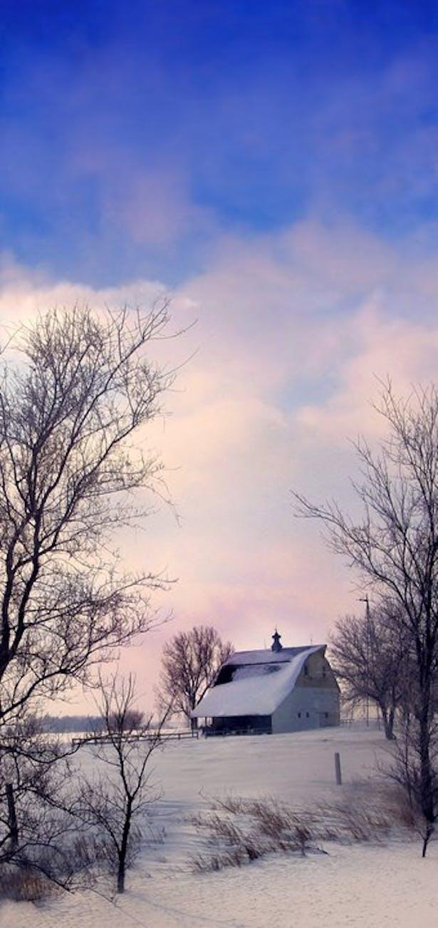 Midwest Photography, Barn winter seasone.
