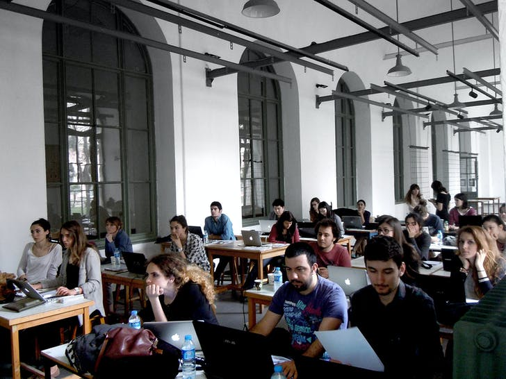 Processing tutorials during AA Istanbul 2013 (Photo: Elif Erdine)