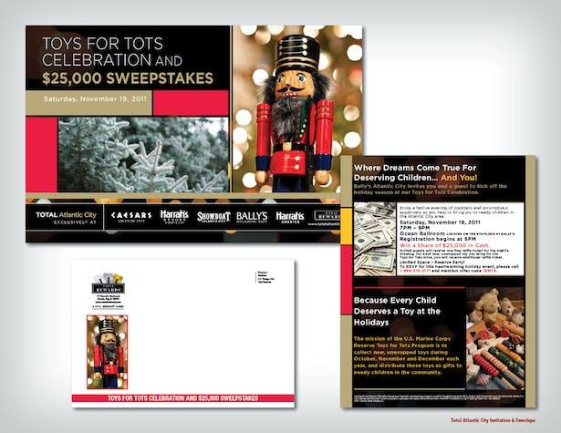 Total Atlantic City Invitation & Envelope