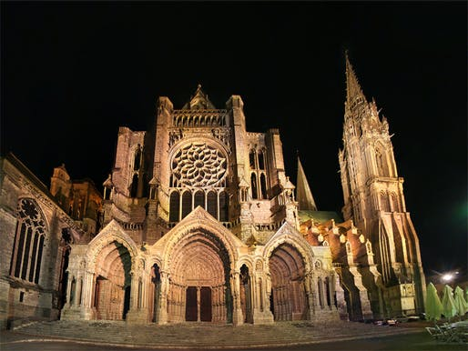 Is the famed Chartres Cathedral too clean now to be historic? Image via Wikipedia.