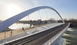 Richard Meier & Partners completes their first bridge project, the new Cittadella Bridge