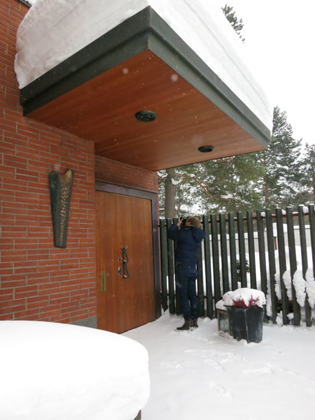 Alexander Morley at Alvar Aalto's Villa Aho.