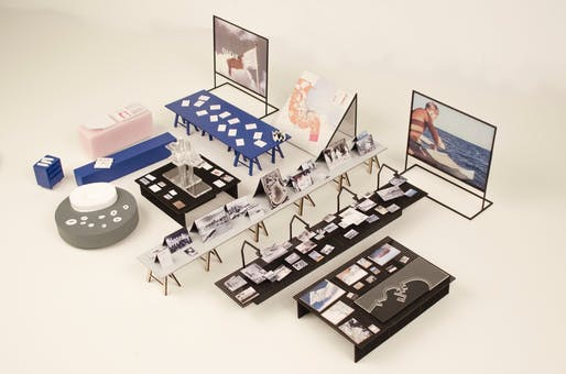 """Model of the """"Making Doha 1950-2030"""" exhibition. © OMA."""