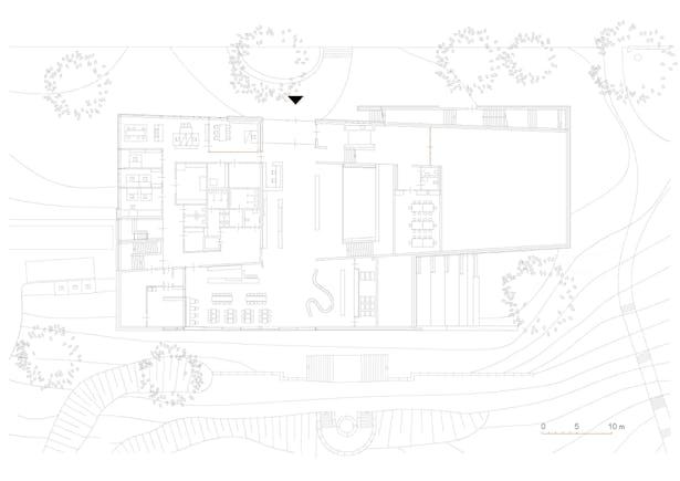 floorplan ground + 1st level © kadawittfeldarchitektur