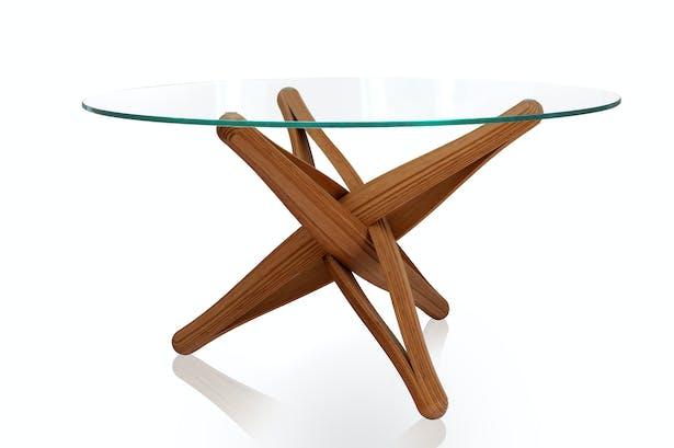 Lock bamboo - glass top