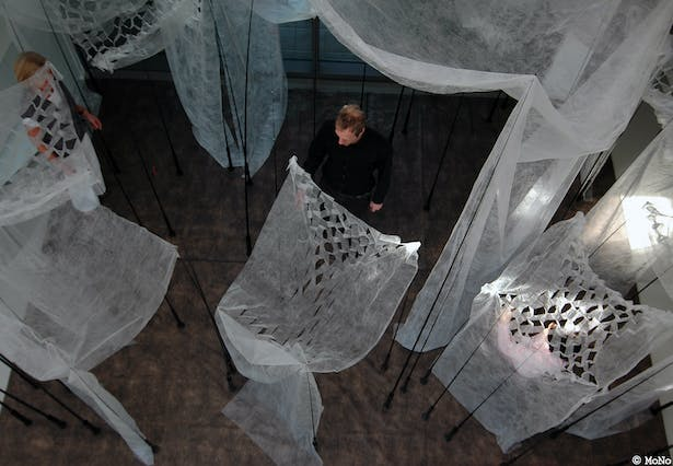 top view of the installation art (photo MoNo)