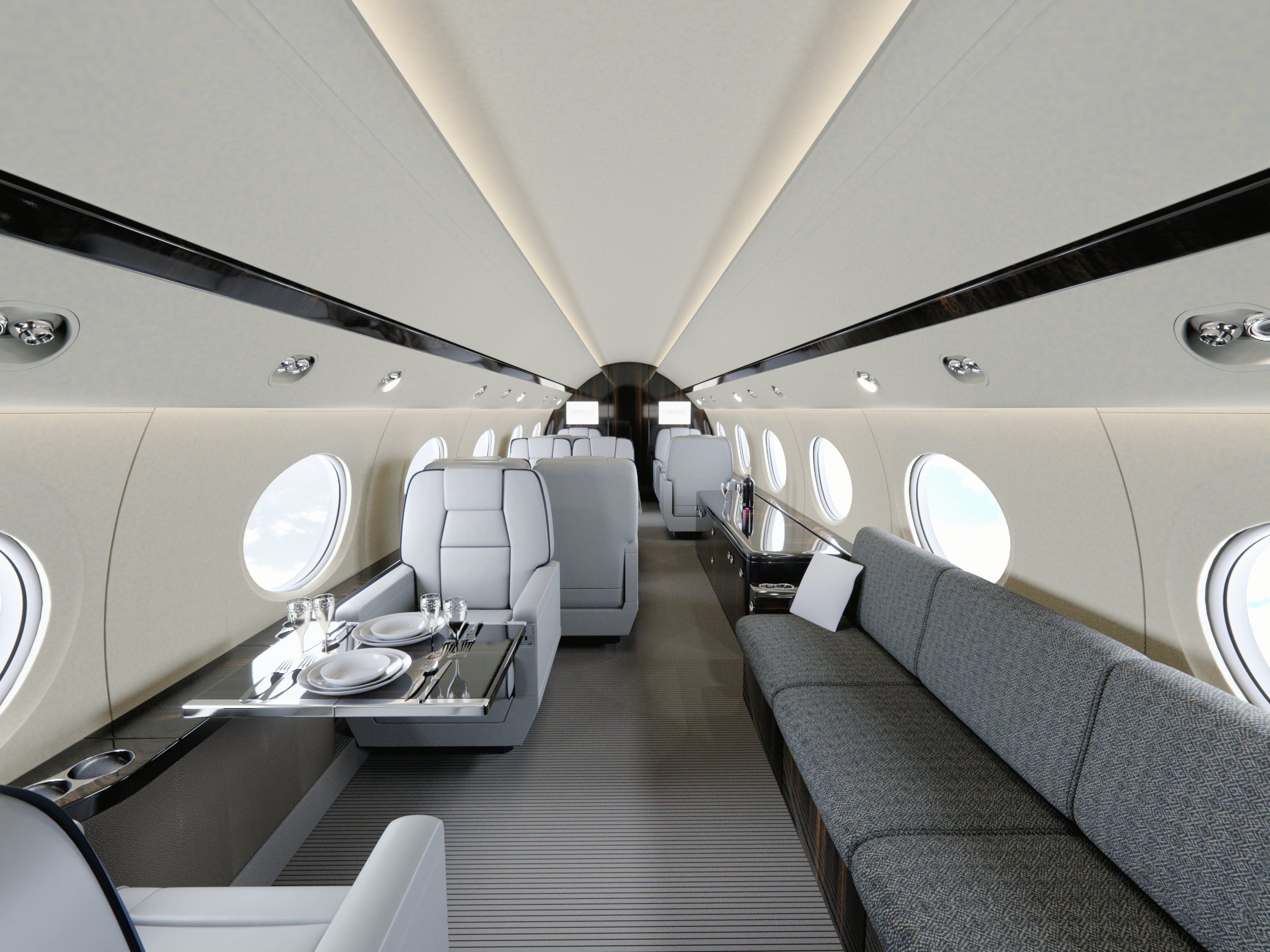 gulfstream v interior todd rushing archinect. Black Bedroom Furniture Sets. Home Design Ideas