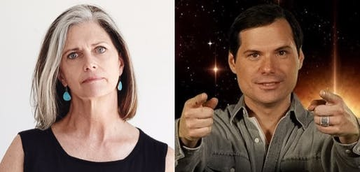 The Odd (but delightful) Couple: Deborah Berke and Michael Ian Black. Images: Deborah Berke / Twitter