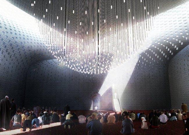Visualization, mosque inside