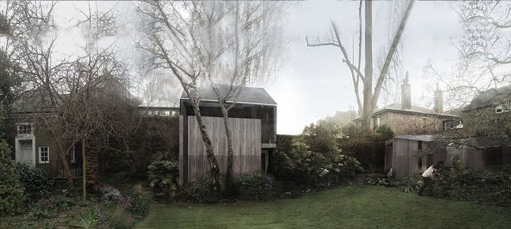 Richmond: Retreat Road project, view from garden side. Image courtesy of the architect.