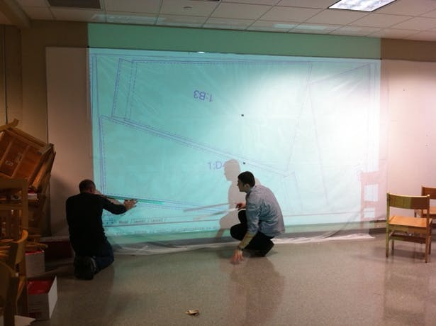 Pattern projection/tracing