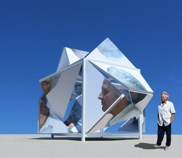 Merging interactive architecture, sculpture, and photography.