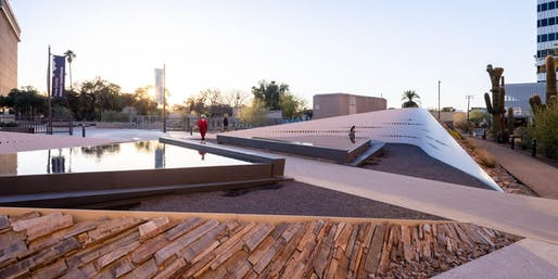 Tucson's January 8th Memorial: The Embrace by Rebecca Mendez. Image courtesy CODAawards