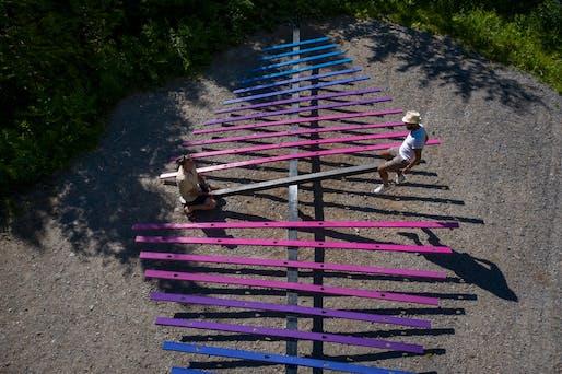 Making Waves by Ted Kesik, Cornel Campbell, Thevishka Kanishkan, Reesha Morar & Anton Skorishchenko – Toronto (Ontario) Canada. Photo credit: Martin Bond.