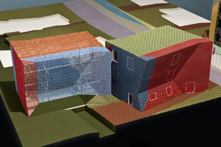 Architectural model for Zago Architecture's Property with Properties project for Rialto, California. Photograph courtesy of James Ewing. © 2011 James Ewing