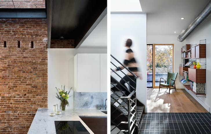 Carroll Gardens Townhouse. Michael Scaduto, Architect. © Alexander Severin