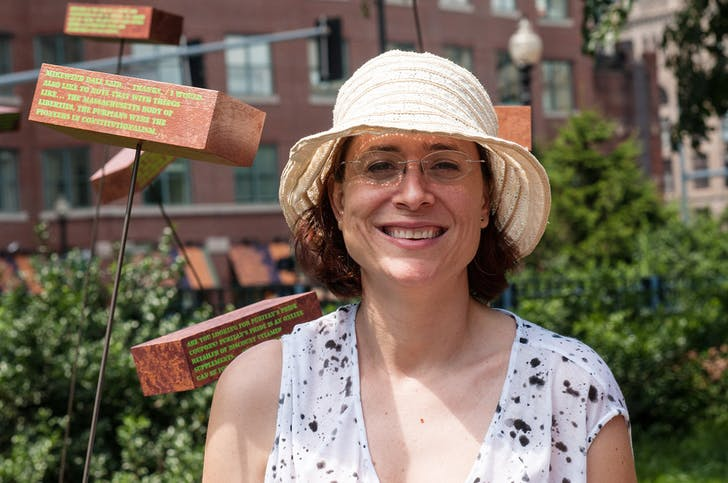"At ""Freedom of Information"" Art Installation, Boston, 2012 (Photo by Greg Harris/ flash-bulb.com)."