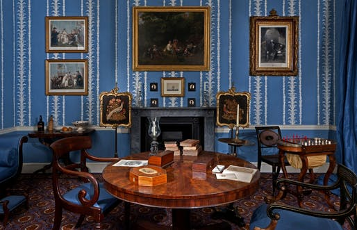 A drawing room in 1830. Photo by Chris Ridley.