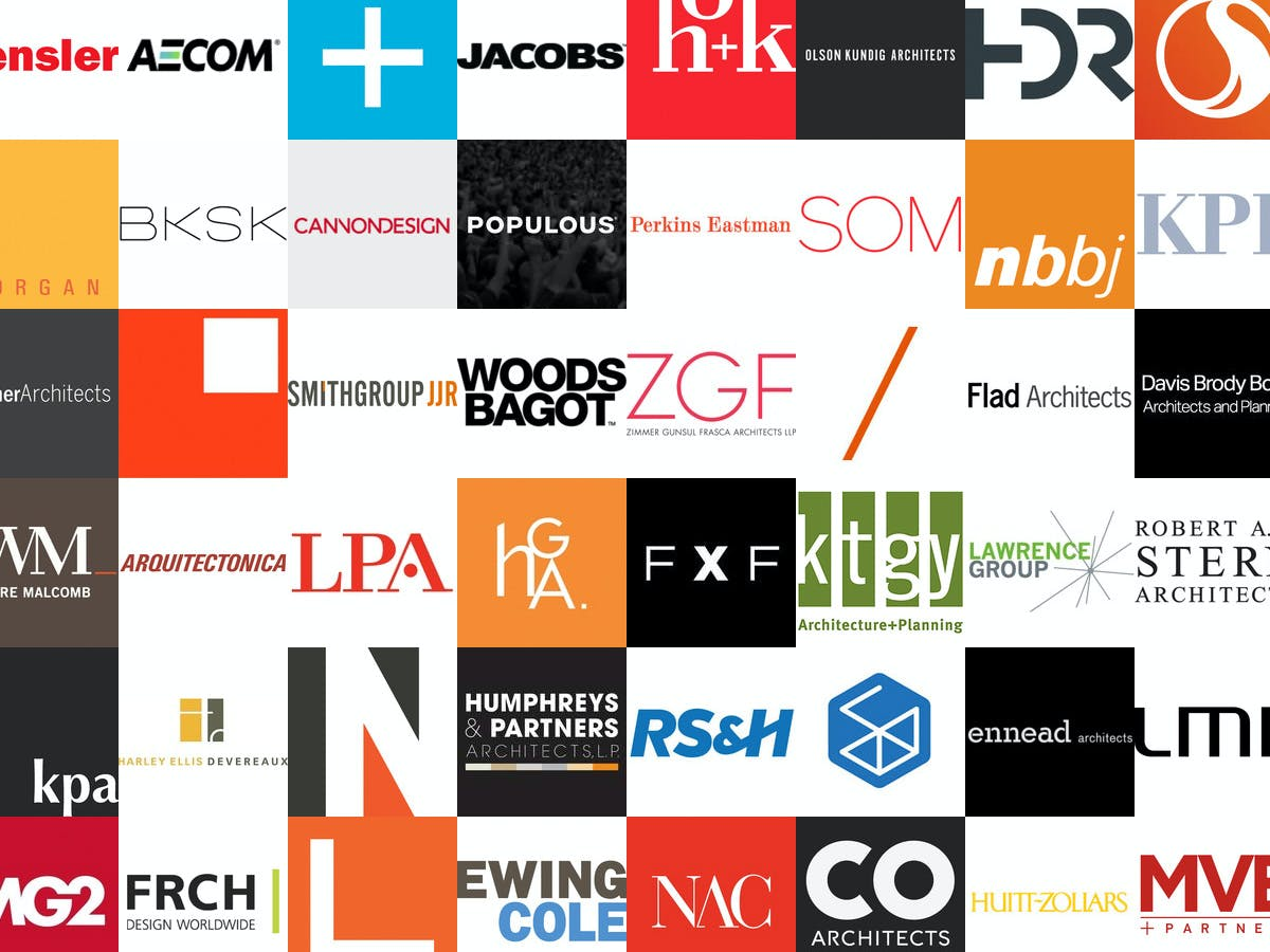 These are the 300 top revenue generating architecture for Architecture design company ranking