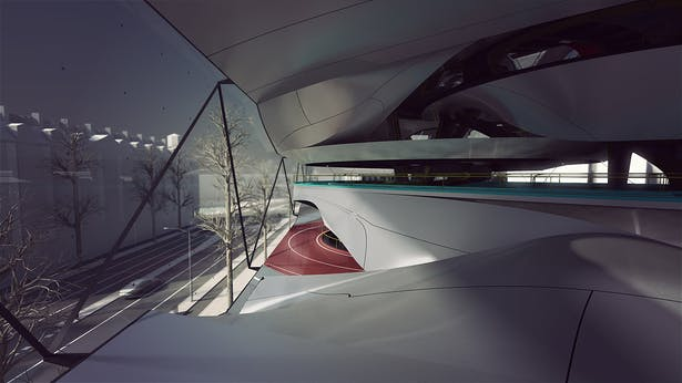 Interior view of level 1