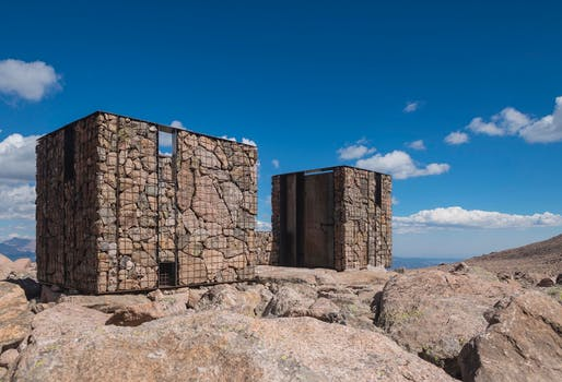 Longs Peak Toilets, Rocky Mountain National Park, Colorado | ColoradoBuildingWorkshop and the University of Colorado Denver. Photo: Jesse Kuroiwa.