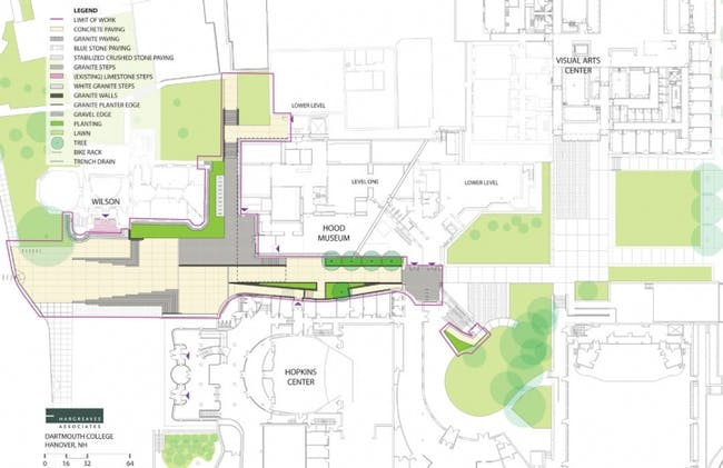 Drawing of TWBTA's proposed Hood Museum of Art expansion at Dartmouth College. (Image via twbta.com)