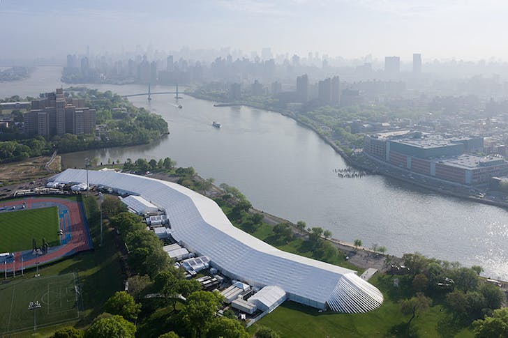 The massive Frieze New York tent designed by SO-IL architects. Credit: Iwan Baan