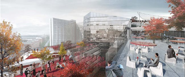 BIG's proposal for Axel Springer HQ in Berlin. Image: BIG