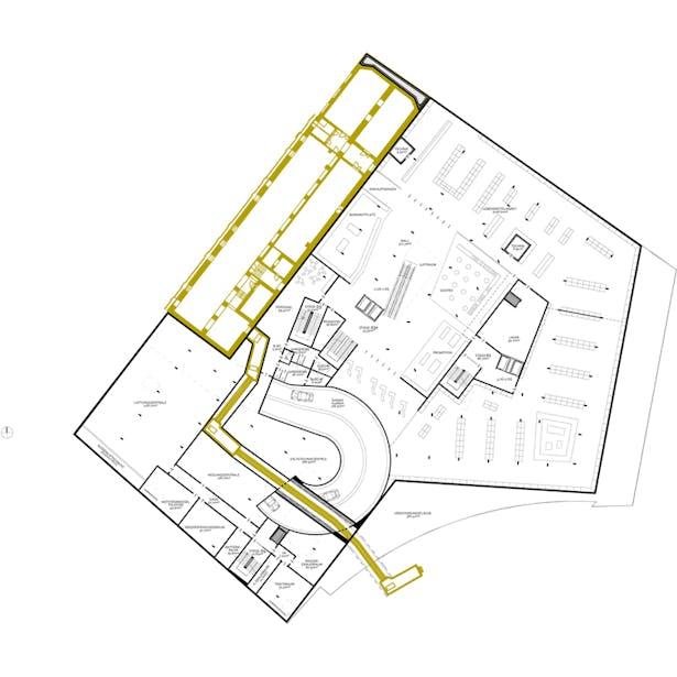 underground floor plan © HOLODECK architects