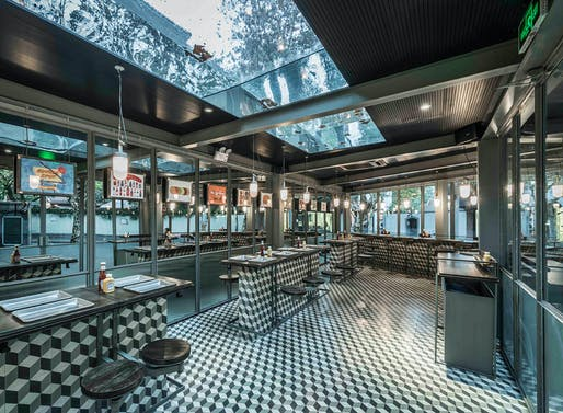 Bars & Restaurants: Neri&Hu Design and Research Office, Rachel's Burger, Shanghai, China​.