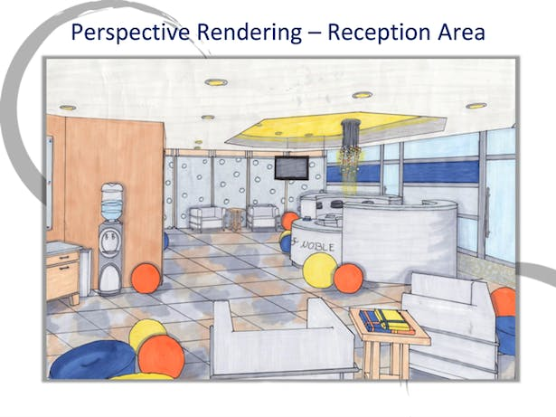 Lobby Area Perspective Rendering