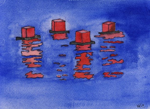 Conceptual water color- Floating Lanterns