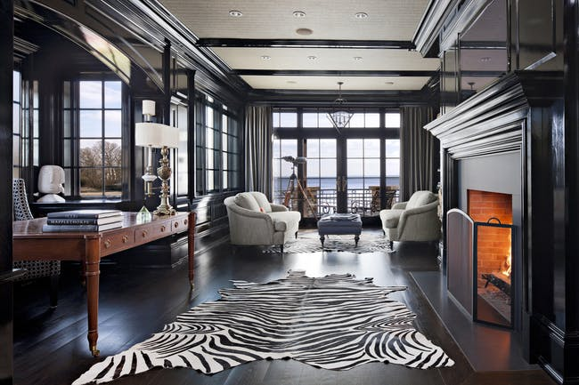 Darien CT Residence by Robert A Cardello Architects. Photo © Robert A Cardello Architects