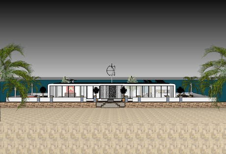 Green renewable design of a houseboat