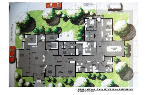 First National Bank Floor Plan