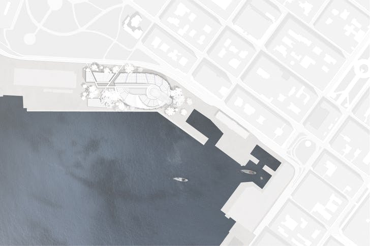 Guggenheim Helsinki, site plan. Image courtesy of the architect.
