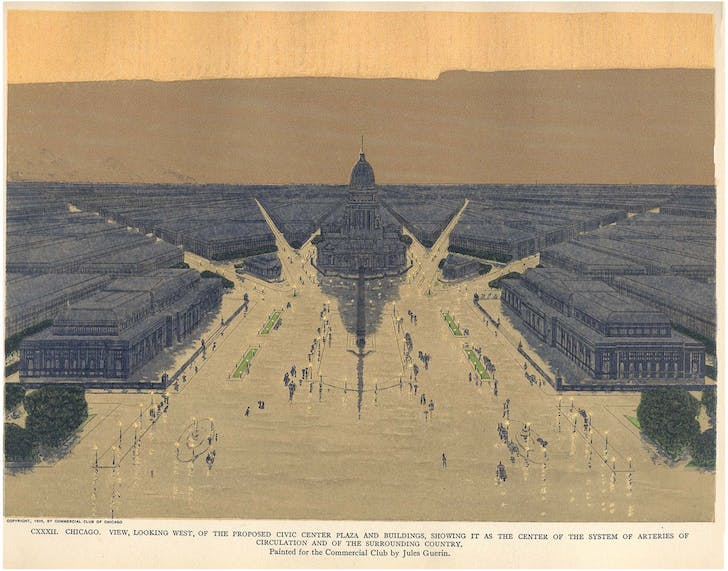 Burnham Plan for Chicago's civic center, image via Wikipedia.