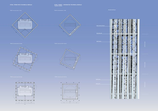 Facade and plan, Concept B (Image: RAFAA)